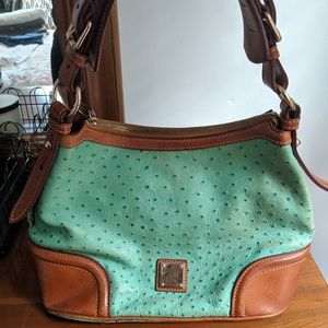 Dooney & Bourke Turquoise Ostrich Leather Purse